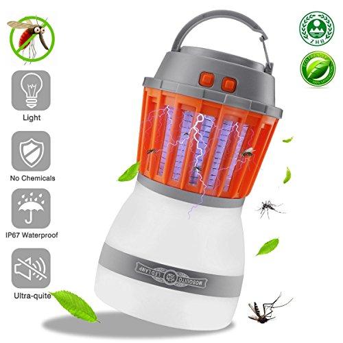 O'WODA Farol de Camping LED Mosquito Zapper Luz USB Recargable,Tienda de campaña luces, portátil y IP67 impermeable,anti insectos repelente de insectos,Luz de Emergencia,Pesca,Senderismo,Exterior e Interior.(Lámpara Anti Mosquitos)