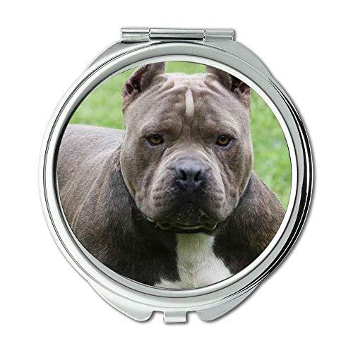 Yanteng Spiegel, Travel Mirror, Mops Hund Drucken, Taschenspiegel, 1 X 2X Lupe