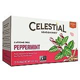 CELESTIAL SEASONINGS HERB TEA,PEPPERMINT, 20 BAG