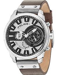 Police Reloj Multiesfera para Hombre de Cuarzo con Correa en Cuero PL15217JS.04A