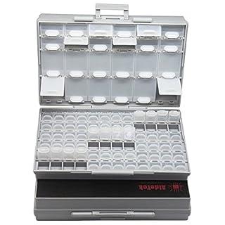2PCS AideTek BOXALL96 lids empty enclosure SMD SMT organizer surface mount box labels