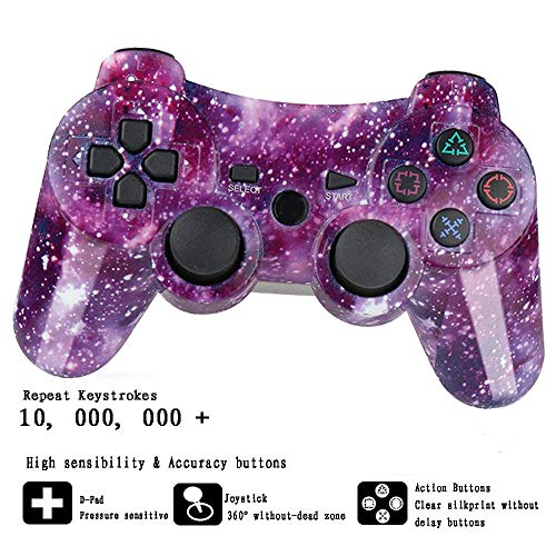 YUHUANG Bluetooth-Controller, PS3-Gamecontroller Drahtloser PC-Controller PS3-Joystick-Controller SIXAXIS-Steuerungsspielzubehör,Q - 360 Skorpion-controller Xbox