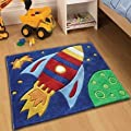 Childrens Play Rocket Rugs 70 x 100cm Perfect for any little boys room cheap and affordable high quality Rugs - low-cost UK light store.