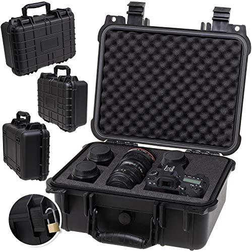 KESSER Kamerakoffer 15 Liter, unisversal Anpassbar, wasserdicht, Universalkoffer, Outdoor, wetterfester, staubdichter, Koffer, Fotokoffer mit Einlage für Kamera Objektive und Zubehör
