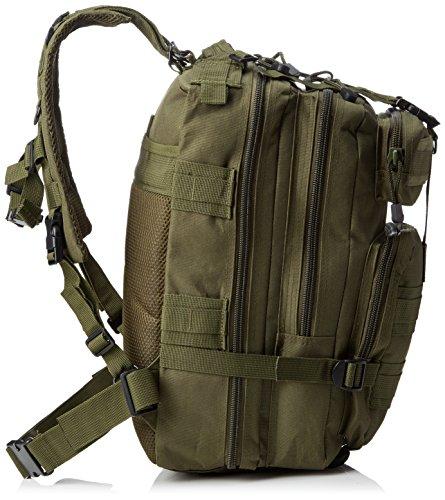 Eyourlife Mochila Militar Táctica Molle para Acampada Camping Senderismo Deporte Backpack de Asalto Patrulla para Hombre Mujer Verde Ejército 20L