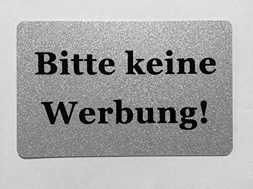KaiserstuhlCard Magnet 2x Bitte keine Werbung magnetisch und selbstklebend Aufkleber Tür Schild Türschild Briefkasten Briefkastenschild Haus Praxis Büro Geschäft silber (4)