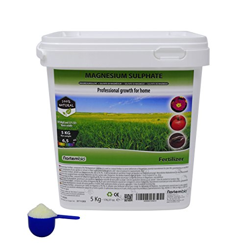 NortemBio Magnesium Sulphate 5 kg, Multi-Purpose Fertiliser, Universal Use  for Garden and Indoor Plants  Developed in UK