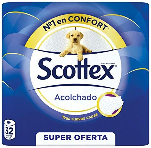 Scottex Acolchado Papel Higiénico   32 rollos
