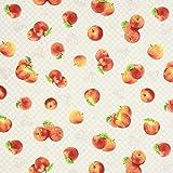 Fabulous Fabrics Canvas Äpfel - beige - Meterware ab 0,5m