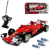 Maisto Ferrari SF70-H Sebastian Vettel Nr 5 Formel 1 2017 27 MHz RC Funkauto - inklusive Batterien - sofort startklar 1/24 Modell Auto