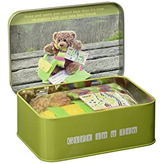 Teddy in a Tin - Travel Bear - Gift in a Tin by Apples to Pears