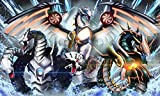 Andycards Playmat Cyber Dragon Triple Force - Infinity, Nova, Final - Exclusive for Yugioh Card Game