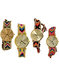 Generic Analogue Multicolor Dial Women And Girls Watch (Combo Of 4) - Geneva 4qty.88