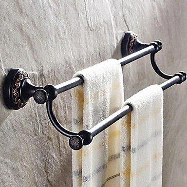 Öl Eingerieben Bronze Bad-accessoires (QMM Bad-Accessoires, Öl eingerieben Bronze Doppelhandtuchhalter)