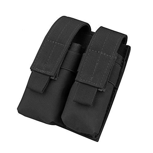 Gexgune Jagd Magazin Tasche, Nylon Mag Beutel Taktische Doppel Molle Pistole Magazin Beutel für 1911 Glock 9mm (2 Farbe optional) -