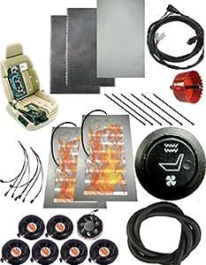 carbon 12 v 1 rund schalter sitzheizung und bel fteten vordersitze vordersitze. Black Bedroom Furniture Sets. Home Design Ideas