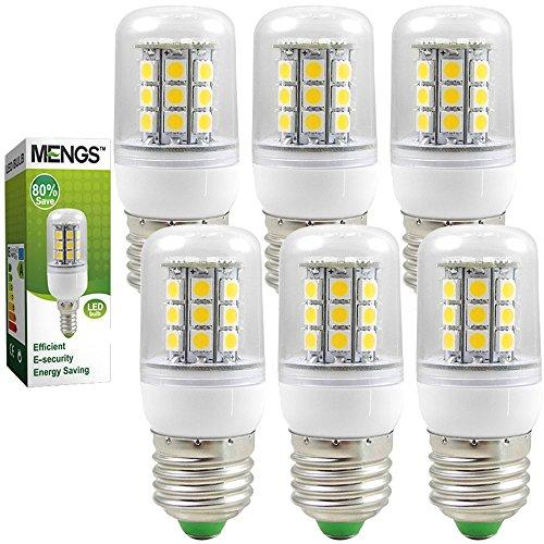 6X MENGS® E27 5W 7W 9W Mais Licht 5050 SMD LED Leuchtmittel (Warmweiß 3000K, AC 220-240V, 360º Abstrahlwinkel) Energiespar Lampe