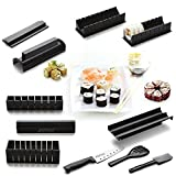 11pcs DIY Sushi Maker Kit, Perfect Roll Sushi Maker Tool Rice Roll Mold for Kitchen Cooking(Sushi Chef Knife Included)