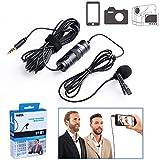 BOYA BY-M1 omnidireccional lavalier Micrófono de condensador de 20 pies Audio Cables para Canon Nikon Sony...