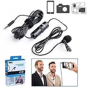 BOYA BY-M1 3,5mm Omnidirektional Kondensatormikrofon Kamera Lavalier Mikrofon für Canon Nikon Sony DSLR Camcorder Kameras IOS iPhone Smartphones Audio recorders