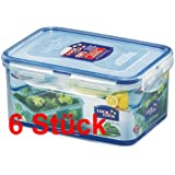 Lock & Lock Frischhaltedosen Set 6-teilig HPL 815D je 1,1 Liter