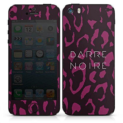 Apple iPhone SE Case Skin Sticker aus Vinyl-Folie Aufkleber BARRE NOIRE Fashion Leopard DesignSkins® glänzend