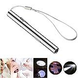 FOONEE mini torcia LED ricaricabile USB da penna luce Torcia per infermieri medici Medical (2pezzi in acciaio INOX bianco/bianco caldo)