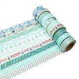 K-LIMIT 10 Set Washi Tape rollos de Washi Tape, cinta decorativa autoadhesivo, cinta de enmascarar, masking tape Scrapbooking DIY Washitape Scrapbooking DIY 6283