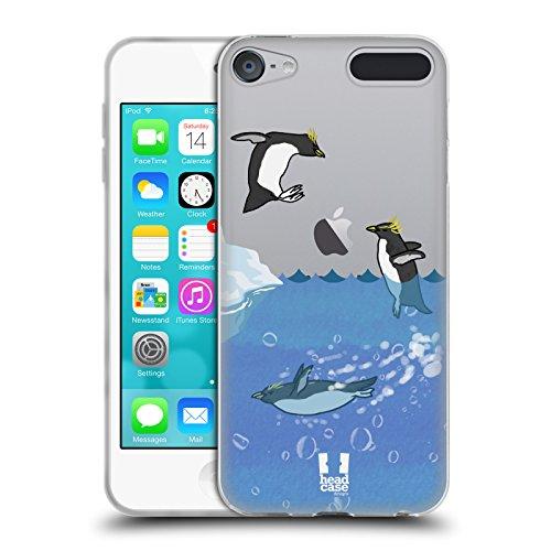 Head Case Designs Schwimmen Pinguin Kollektion Soft Gel Hülle für Apple iPod Touch 6G 6th Gen