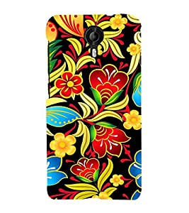 Floral Painting Art 3D Hard Polycarbonate Designer Back Case Cover for Micromax Canvas Nitro 4G E455