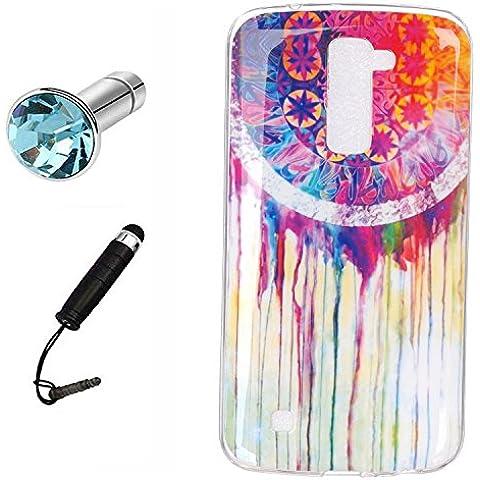 Lusee® Funda de silicona para LG K10 5.3 Suave Cascara TPU El color blanco Dreamcatcher