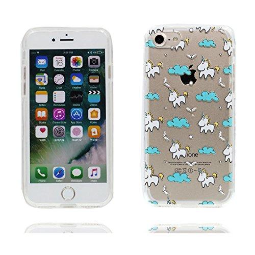 iPhone 6 Custodia / iPhone 6s Copertura / Cartoon delfino, Durable Slim Cover Shell Materiale in gomma trasparente al silicone contro graffi, iPhone 6S Case 4.7 color 4