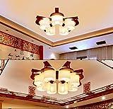 MJY Bombilla del techo de madera Retro, restaurante, sala, lámpara, decorar, escaleras, salón, lámparas, modelado, lámpara, E27, lámparas decorativas, decoración del hogar,30 * 60cm