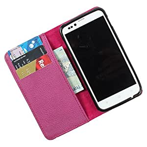 i-KitPit PU Leather Wallet Flip Case Cover For HTC Desire 500 (Purple)