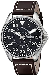 Hamilton Men's Analogue Quartz Watch with Leather Strap H64611535