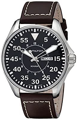 Hamilton Men's Analogue Quartz Watch with Leather Strap H64611535
