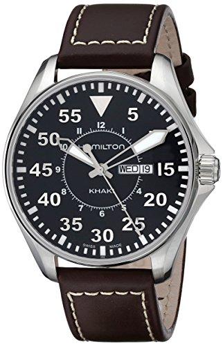 Hamilton Reloj Analogico para Hombre de Quartz con Correa en Cuero H64611535