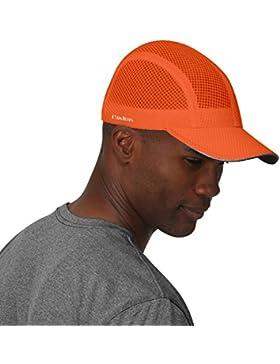 TrailHeads Gorra para correr, para hombre, ligera, de secado rápido, 7 colores, Race Day Performance, orange peel
