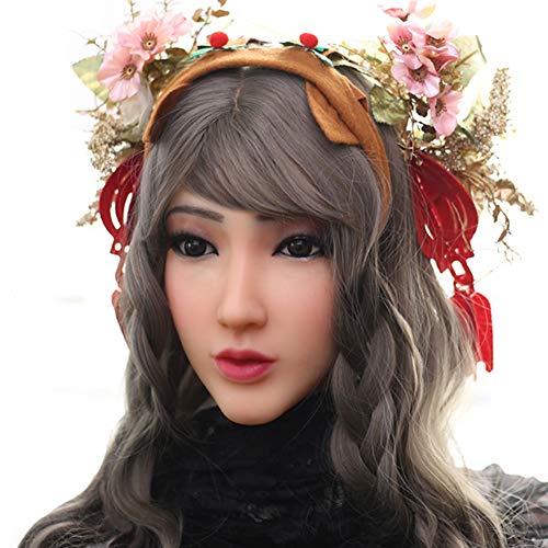 PINGJIA Princess Christina Gesichtsmaske für European Silicone Female Mask für Masquerade Halloween Mask Crossdresser mit Video Shows