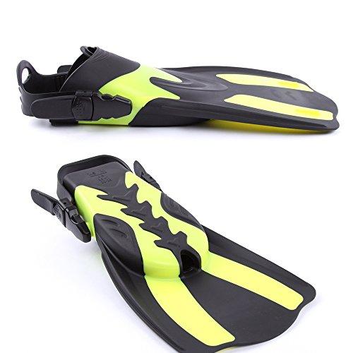 Lixada Adult Short Snorkeling Swim Fins Diving Fins Flippers with Adjustable Heel Water Sports