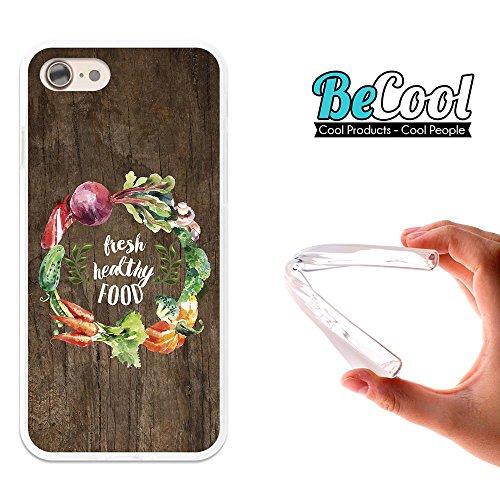BeCool®- Coque Etui Housse en GEL Flex Silicone TPU Iphone 8, Carcasse TPU fabriquée avec la meilleure Silicone, protège et s'adapte a la perfection a ton Smartphone et avec notre design exclusif. Des L1502