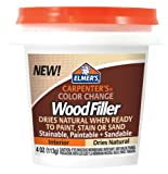 Elmers/X-Acto Elmer's Carpenter's Color Change Wood Filler, 4 oz., Natural (E912)