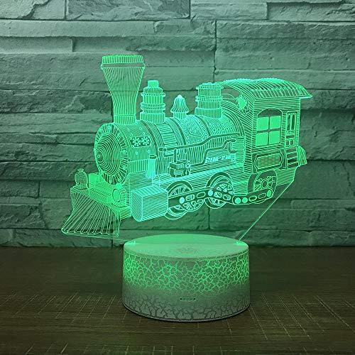 3D Optische Illusions-Lampen Zug 7 Farben Erstaunliche Optische Täuschung Die Schlafzimmer-Dekoration Für Kinder Weihnachten Halloween-Geburtstagsgeschenk Beleuchten