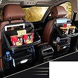 Hxdeli Auto Rücksitz Organizer Protector,Universell einsetzbar als Auto Rücksitz Organizer für Kinder,Lagerung-Flaschen,Tissue Box,Spielzeug-C
