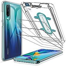 LK [3 Pezzi Pellicola Protettiva per Huawei P30 Vetro Temperato 9H Durezza +1* Custodia per Huawei P30 Cover TPU Trasparente Silicone Protettiva Case