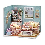 NUOLUX Poupées en bois BRICOLAGE maison Miniature Kit bonheur maison Decor enfants Jouet décoration