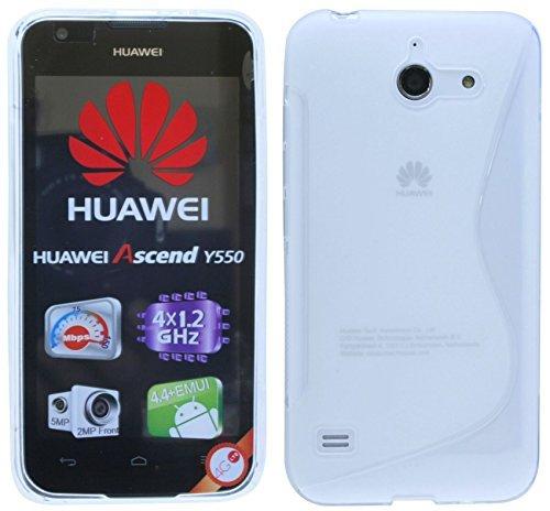 ENERGMiX Huawei Ascend Y550 // Silikon Hülle S-Line Tasche Case Zubehör Schale in Transparent
