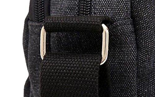 Herren Tasche Umhängetasche Pack Beiläufige Tasche Canvas Rucksack Freizeit Messenger Bag Einfache Reise Green