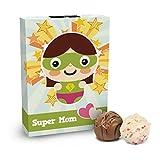 Super Mom - 6 handgefertigte Pralinen zum Muttertag, Muttertagsgeschenk Pralinen, Pralinen für Mama