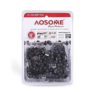 Aosome Ersatzkette für Kettensäge, 45,7 cm, 72 Glieder, 8,3 mm Kettenteilung, 1,5 mm